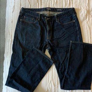 Bonobos straight blue jeans, 38W 34L